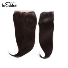 100% virginal indio remy del pelo del cuerpo recto humano del cordón del cordón pieza bohemia frontal del pelo