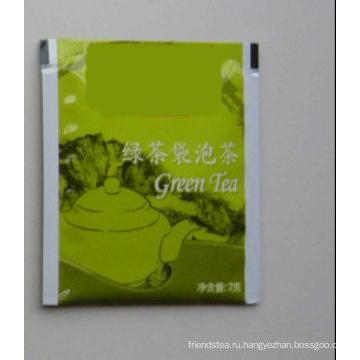 Зеленый чай в пакетиках (фольга чайный пакетик)