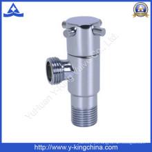 Válvula de ángulo de latón pulido con brida (YD-5032)