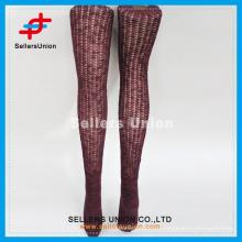 2015 Японский чулок Женские сексуальные нового стиля бордовый теплая бедра высокие носки для оптовой