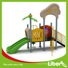 Natural Eco-friendly Plastic Play Equipment Outdoor Slides For Kids