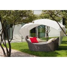 Sofá de vime do Rattan do pátio jogo da mobília do jardim ao ar livre