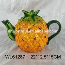 Beliebte Ananas Form Keramik Teekanne