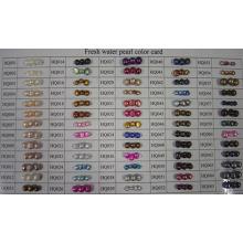 Tarjeta de color de perlas de agua dulce