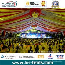 Tentes de mariage en plein air de 500 personnes 15X40m avec décorations de luxe