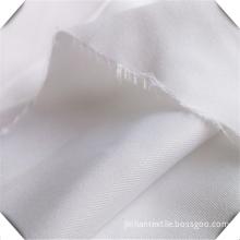 100% Woven Cotton Bleached White Nurse Uniform Fabric
