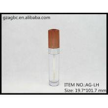 Plástico transparente & vazio redonda Lip Gloss tubo AG-LH, embalagens de cosméticos do AGPM, cores/logotipo personalizado