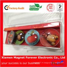 Cadeau de produit promotionnel réfrigérateur en verre aimant de réfrigérateur