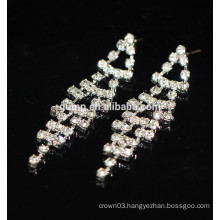 New Fashion Promotion Elegant Silver Hanging Crystal Stud Earrings