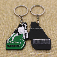 Wholesale Cheap Custom Horse PVC Rubber Keychain