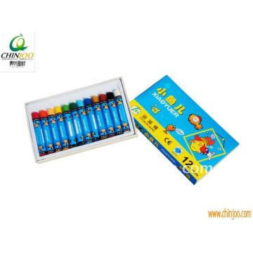 12 Colours round kids' oil pastels
