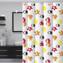 Juego de baño de cortina de ducha de baño impreso impermeable