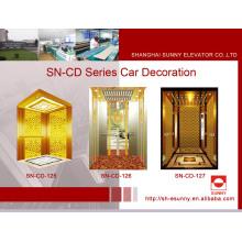 Decoración de la cabina del elevador con el marco de oro del St. St (SN-125)