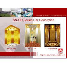 Elevator Cabin Decoration with Golden St. St Frame (SN-125)