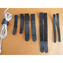 Fabriqué en Chine CE Certificat Black Hook & Loop Cable Tie pour sangles