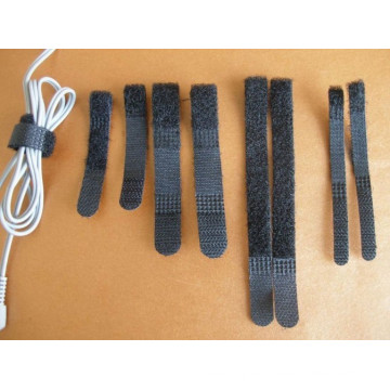 Made in China CE Certificate Black Hook & Loop Cable Tie for Straps