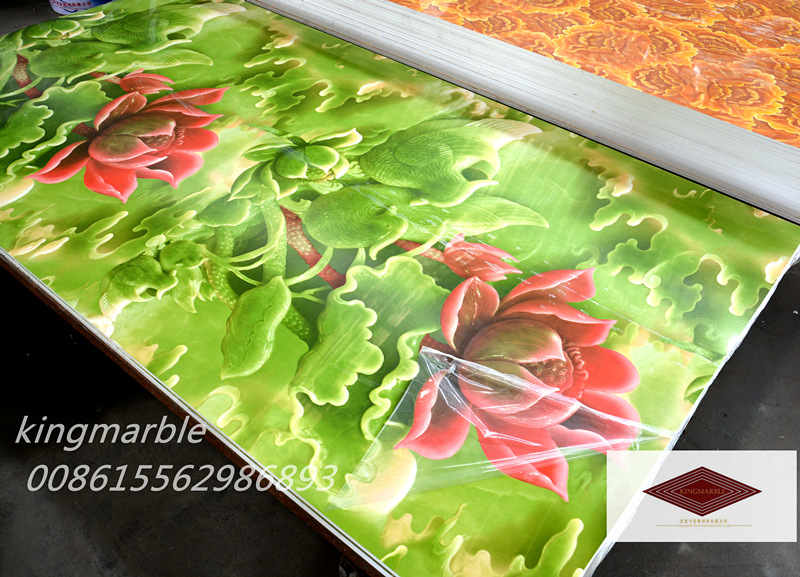artificial Rigid Pvc marble Sheet