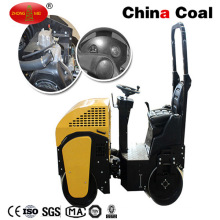 Small Ride on Manual Double Drum Asphalt Vibratory Road Roller