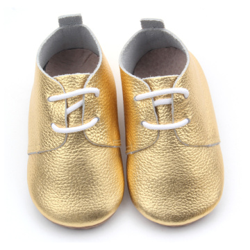 Gummi Outsoles Handgjorda Wholesale Baby Oxford Skor