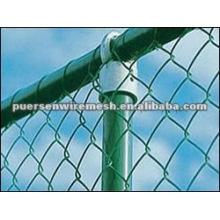 Flexible Valla de enlace de cadena galvanizada en caliente