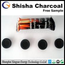 Comprimidos de carvão natural de madeira shisha