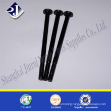 Long Carriage Bolt (Black Zinc Plated Gr 5)