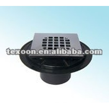 floor water drainers with chrome plated basket sinkers