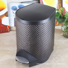 Design de diamante Slow Down Close Foot Pedal Waste Bin (S-8LK)
