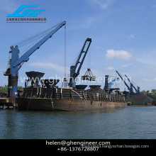 Hydraulic Marine Cargo Crane with Grab Bucket 20ton - 30ton