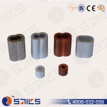 Rigging DIN3093 manchon de câble métallique en aluminium