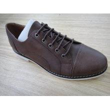 Sapatos de escritório de couro marrom Mens Nx 524