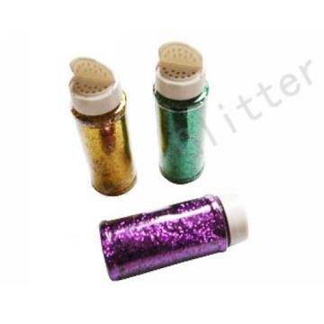 glitter with bottle
