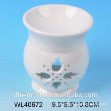 Brûleur à l'huile de parfum en céramique blanc Elegent