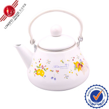 Enamel Teapot with Bakelite Handle/Kettle