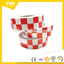 Checkered Reflective Tape, white and red, safety reflective tape
