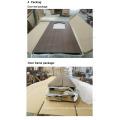 Konstruierte benutzte Innen-MDF PVC-Türen mit Glas (SC-P169)