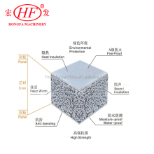 Light weight thermal insulation eps cement sandwich wall panel machine production line