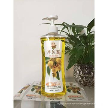 Bouteille d'huile de shampooing en plastique pour animaux de compagnie de 500 ml avec distributeur de lotion