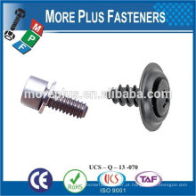 Feito em Taiwan M3x7 Hex Socket Low Thin Head Cap com arruelas de mola Flat Washers Assembled Sems Screws