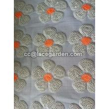 PU Leather Sequin Embroidery Fabric
