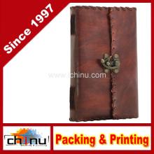 Cuaderno de diario de cuero puro, Sketchbook, Scrapbook, Diario de viaje (520065)