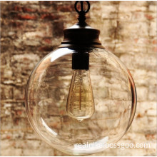 Modern Vintage Decorative Light Glass Shade Edison Bulb Pendant Lamp (D2001)