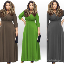 New Arrival fashion women Plus size dresses maxi dress