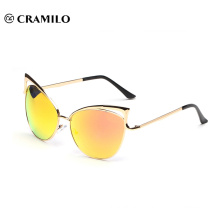 8041 mirror lens Brand design cat eye sunglasses