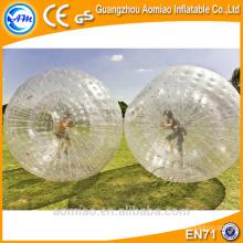 Gigante inflable inflable zorb humano tamaño rollo dentro de la bola inflable para la venta