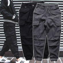 Pantalons sport noir / gris Jogger Pantalons épais épais