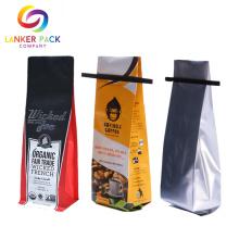 Saco de embalagem de café de vedação Quad Resealable personalizado