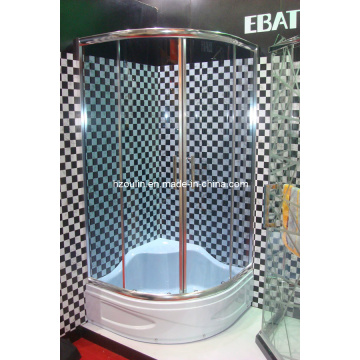 Душевая комната с серым стеклом (стекло E-18grey)