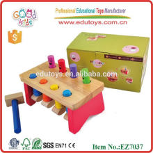 kids wooden pounding set popular pounding bench toys