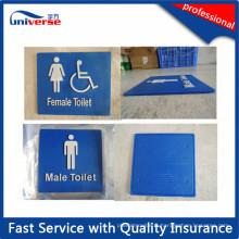 Panneaux de toilette personnalisés avec Braille